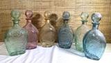 6 Lord Calvert Glass Decanters.