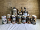 Great Group of Collectable Beer Steins.