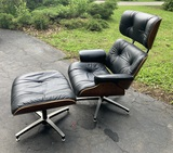 Vintage Eames style Chair with Ottoman.