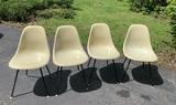 4 Mid Century Modern Herman Miller Inc. Fiberglass Shell Chairs.