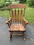Yugoslavia VIII 76 Wood Rocking Chair.
