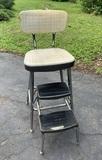 Vintage Ames Maid Step Stool Chair.