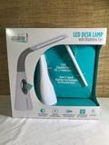 UltraBrite LED Desk Lamp with Bladeless Fan Model# SL9066.