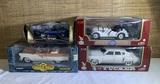 4 Diecast Cars.