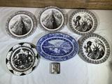 6 Collector Plates by -222 Fifth, Shenango China, & San Francisco Ashtray.