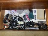 Vintage Koss headphones, art books lot