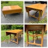 Mid Century Modern Adjustable Height Drop Leaf Table / Coffee Table. See Photos..