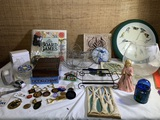 Key Chains, Bird Clock, Game, Candle Holder & More.