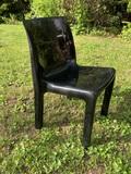 MCM Poliform Chair in Black Resin
