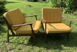 2 MCM Italian made Chairs with Cushions.