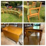 Beautiful Mid Century Modern Drop Leaf Dining Table and 6 Chairs.