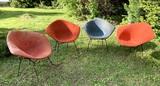4 Mid Century Modern Knoll Diamond Chairs.