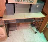 MCM Metal and wood desk.