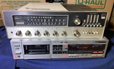 Fisher Tune-O-Matic 800 Solid State FM-AM Stereo Receiver & Sony Stereo Cassette Deck.