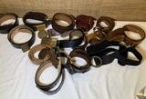 Group of Vintage Belts and Belt Buckles.