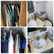 Closets and bathroom clean out lot