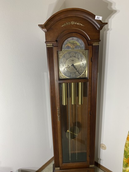 Vintage Grandfather clock with Chime by Trend