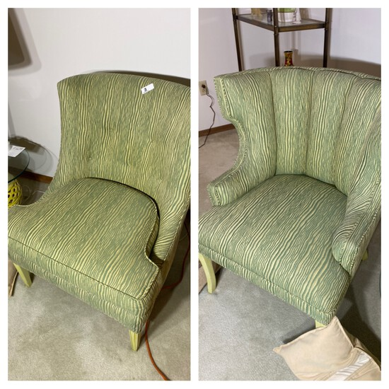 Two Vintage Upholstered chairs
