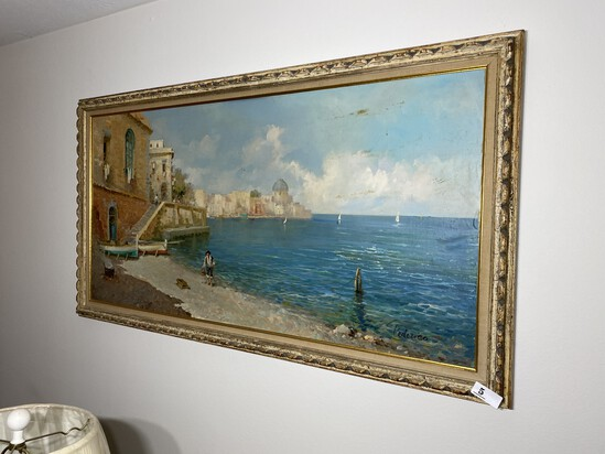 Vintage Oil on Board Painting - Federico Morello