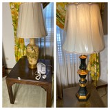 Two Lamps, Table, phone