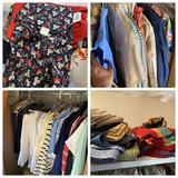 Closet lot of vintage clothing