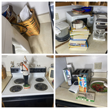 Counter lot of kitchen items