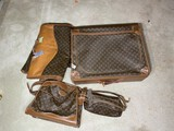 Group lot of vintage Louis Vuitton luggage