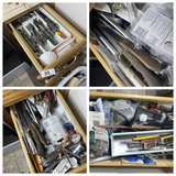 Kitchen drawers contents lot