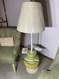 Unusual Vintage Lamp with Ceramic Base