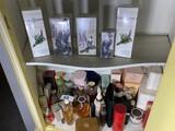 Cabinet lot of vintage perfume
