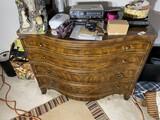 Vintage curved front dresser