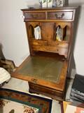Unusual Miniature Wooden Secretary Desk