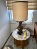 Vintage lamp PLUS Marble Top Table
