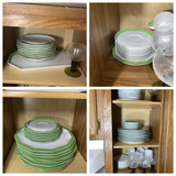 Cupboard lot of china
