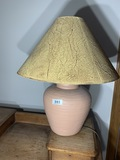 Vintage lamp with clay pot base