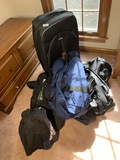 Group of assorted luggage