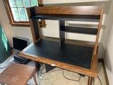 Wooden computer office desk