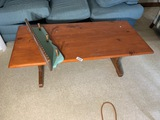 Wooden coffee table, small shelf