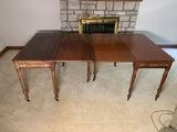 2 Antique gate leg folding top tables