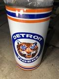 Vintage Metal Detroit Tigers Trash Can