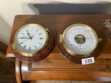 Vintage Abercrombie & Fitch Barometer and Clock