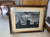 Unusual Antique Photograph Cowboys in Silhouette