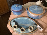 Group lot of art pottery ceramic pieces