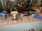 Group of assorted kitchen wares on counter