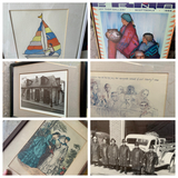 Group lot of assorted framed pieces