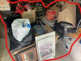 Group lot of assorted items in garage