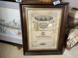 1878 Franklin County Ohio Marriage Certificate