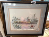Vintage signed print of ducklings by Don Kent