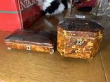2 Antique Tortoise Shell boxes