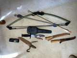 Child's compound bow, knife collections